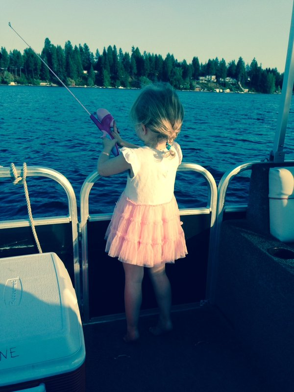 neice, baby, baby girl, fishing, tutu, pink, lake, vacation, summer, daughter, parenting advice,