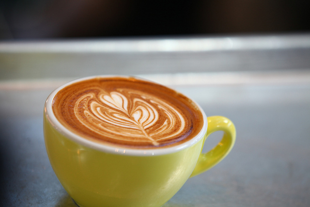 morning coffee, latte, latte art