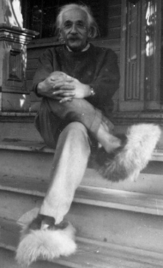 albert einstein at home