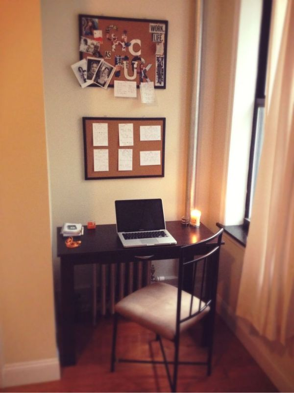 a desk space for working from home office
