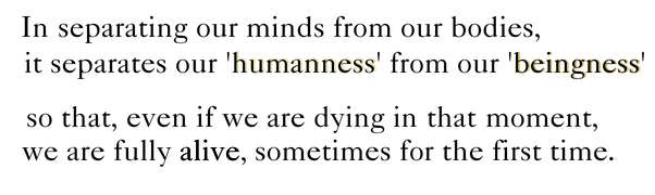 quote about being alive, body and mind, happiness and diagnosis