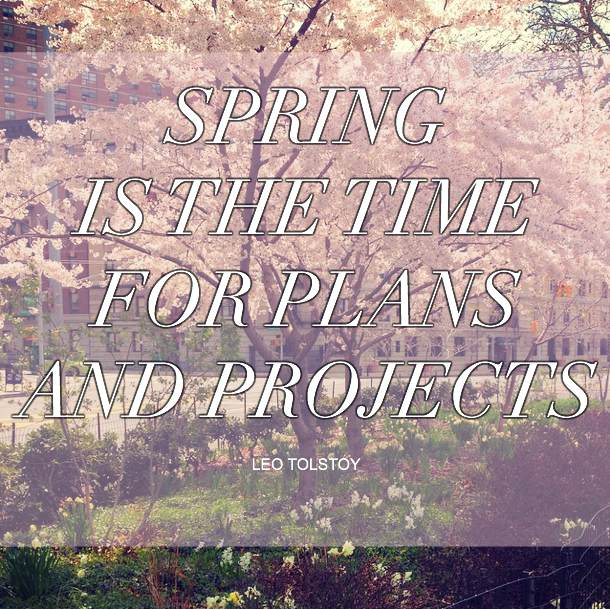 quote about spring by leo tolstoy