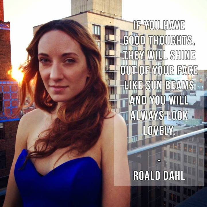 rooftop nyc sunset magic hour photography quote by roald dahl