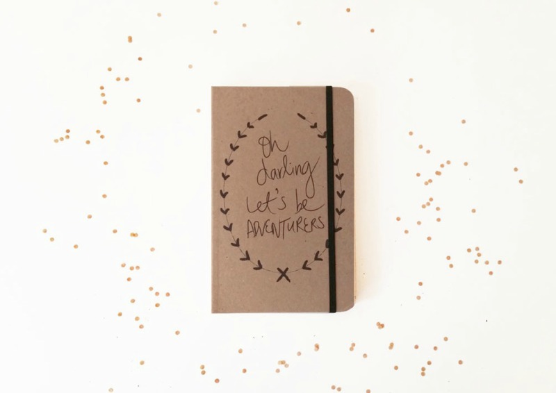 handmade cute quote journal cover