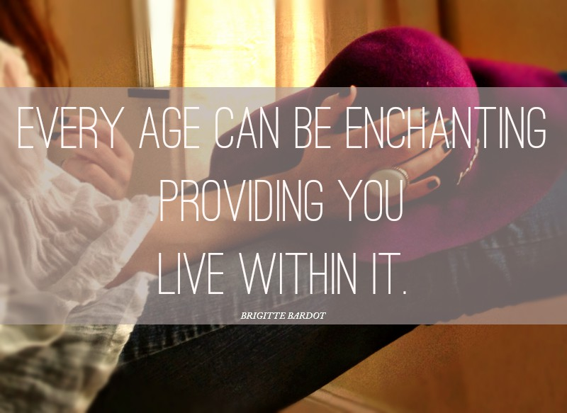 famous quote about aging by brigitte bardot