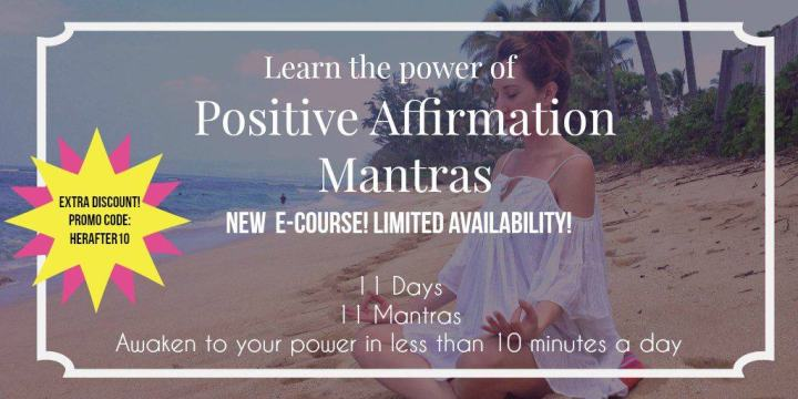 Positive Affirmations for happiness and health, online class on sale now!