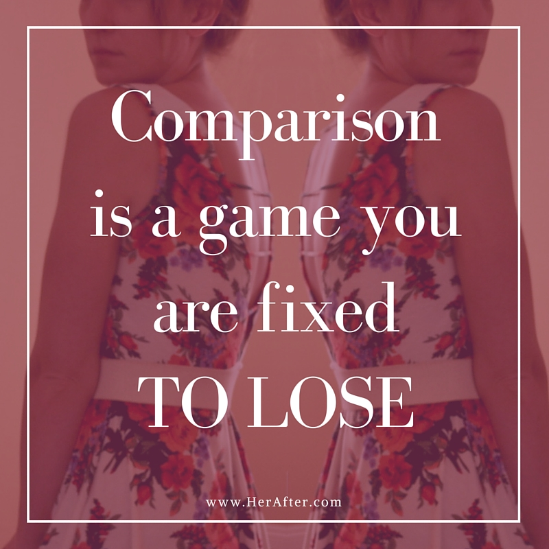 Inspiring quote on comparison; don't compare yourself to others, just be the best you that you can be. Click to read how comparing yourself to others kills your happiness.