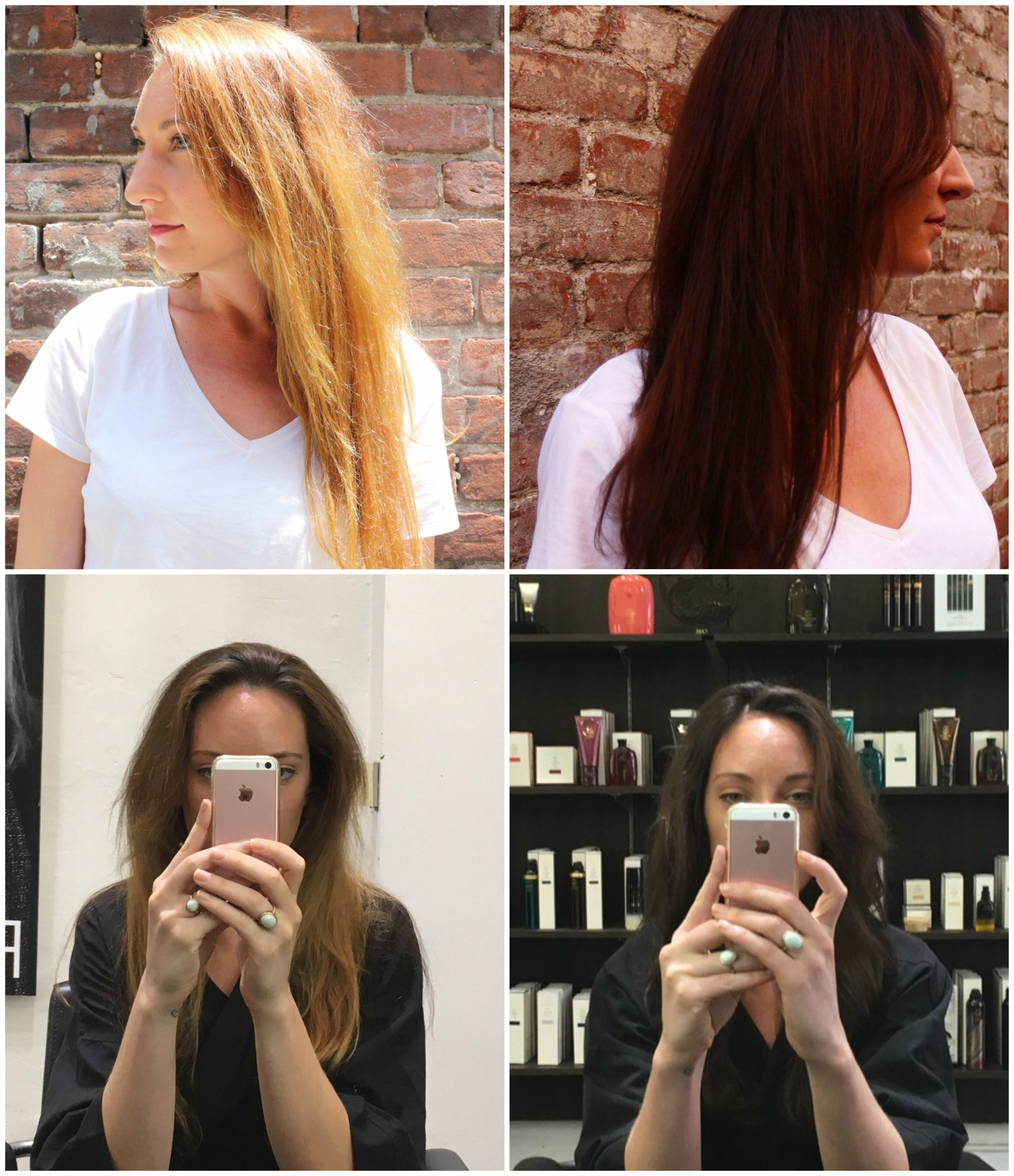 Blonde to brunette hair makeover - hair after cancer by stylist cori young los angeles